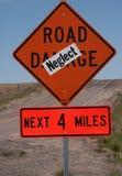 Straßen-Schaden-Zeichen Stockbild