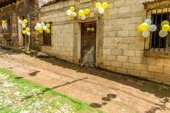 Straßen schmückten für Johannes Tagesprozession, Guatemala Lizenzfreie Stockbilder