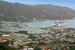 Straßen-Stadt, Tortola Lizenzfreie Stockfotografie