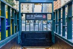 86 Straßen-Stations-U-Bahn - NYC Lizenzfreies Stockbild