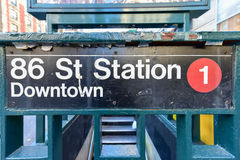 86 Straßen-Stations-U-Bahn - NYC Lizenzfreie Stockfotos