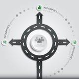 Straßen-Straßen-u. Zeichen-Geschäft Infographics Lizenzfreie Stockbilder