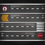 Straßen-Straßen-u. Zeichen-Geschäft Infographics Stockbild