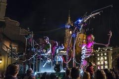 Straßen-Theater Efimer Stockfotos