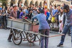 Straßen-Theaterfestival Stockbild