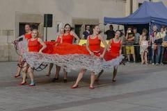 Straßen-Theaterfestival in Krakau Lizenzfreie Stockfotos