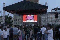 Straßen-Theaterfestival in Krakau lizenzfreies stockfoto