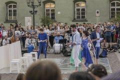 Straßen-Theaterfestival in Krakau Stockfoto