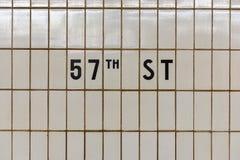 57. Straßen-U-Bahn - New York City Lizenzfreies Stockfoto