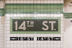 14. Straßen-U-Bahnstation - New York City Lizenzfreie Stockbilder