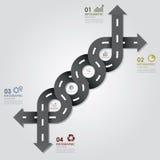 Straßen-u. Straßen-Geschäft Infographics Stockfotografie