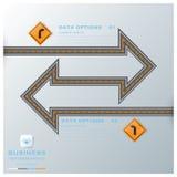Straßen-u. Straßen-Verkehrszeichen-Geschäft Infographic Stockfotografie