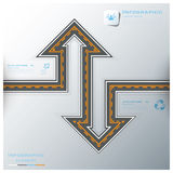 Straßen-u. Straßen-Verkehrszeichen-Geschäft Infographic-Design-Schablone Stockfoto