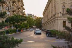 Straßen und alte Architektur in Baku-Stadt Lizenzfreies Stockbild