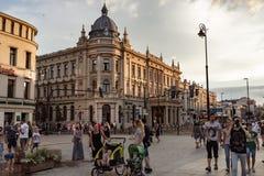 Straßen und Architektur der alten Stadt von Lublin stockbild