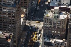 Straßen und Dächer von Manhattan Stockbilder