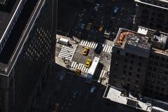 Straßen und Dächer von Manhattan Lizenzfreies Stockfoto