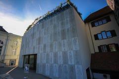 Straßen und Gebäude von Aarau, die Schweiz Stockfotos