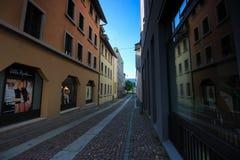 Straßen und Gebäude von Aarau, die Schweiz Stockbilder