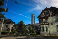 Straßen und Gebäude von Aarau, die Schweiz Lizenzfreie Stockfotos