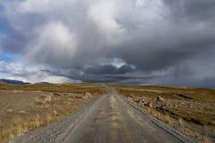 Straßen und Landschaft Nationalparks Thingvelir in Süd-Island stockfotografie
