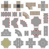Straßen-und Schienen-Elemente Stockbild