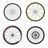 Straßen-und Sport-Fahrrad-Räder und Reifen Lizenzfreies Stockbild