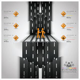 Straßen-und Straßen-Verkehrszeichen-Geschäft Infographic Stockfotografie