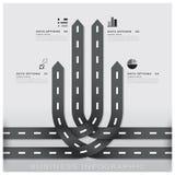 Straßen-und Straßen-Verkehrszeichen-Geschäft Infographic-Design Templat Lizenzfreie Stockfotos