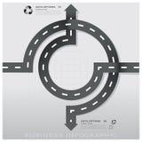 Straßen-und Straßen-Verkehrszeichen-Geschäft Infographic-Design Templat Stockfoto