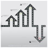 Straßen-und Straßen-Verkehrszeichen-Geschäft Infographic-Design Templat Stockbilder
