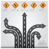 Straßen-und Straßen-Verkehrszeichen-Geschäft Infographic-Design Templat Stockfotos