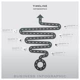 Straßen-und Straßen-Verkehrszeichen-Zeitachse-Geschäft Infographic Desig Stockfotografie