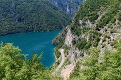 Straßen und Tunnels in Montenegro Lizenzfreies Stockbild