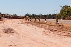 Straßen-Verbreiterungsbau-Verbesserungen stockfotos