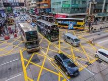 Straßen-Verkehr in Hong Kong Lizenzfreies Stockbild