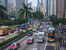 Straßen-Verkehr in Hong Kong Lizenzfreie Stockfotos