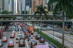 Straßen-Verkehr in Hong Kong Stockfotos