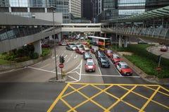 Straßen-Verkehr in Hong Kong Stockbilder