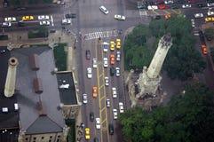 Straßen-Verkehr von oben Lizenzfreie Stockfotografie