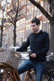 Straßen von Amsterdam stockfotografie