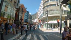 Straßen von Andorra stock footage
