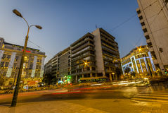 Straßen von Athen, Syntagmen Lizenzfreie Stockfotos