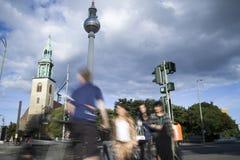 Straßen von Berlin Stockfotografie