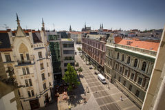 Straßen von Brno Stockbild