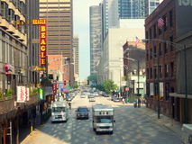 Straßen von Chicago stockbilder