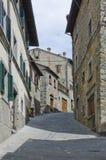 Straßen von Cortona, Italien lizenzfreie stockfotografie