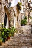 Straßen von Dubrovnik. stockfoto
