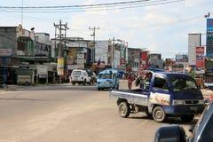 Straßen von Duri Indonesien Stockfotos