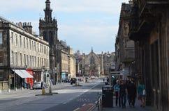Straßen von Edinburgh Stockfoto